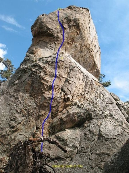 Killed By Death (5.10b), Holcomb Valley Pinnacles
