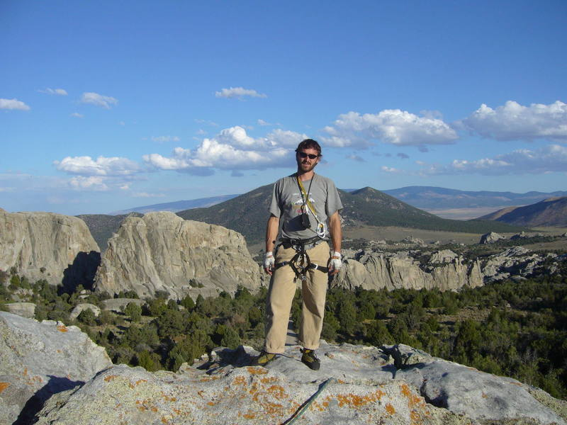 Me on King on the Throne Rock at City of Rocks, ID