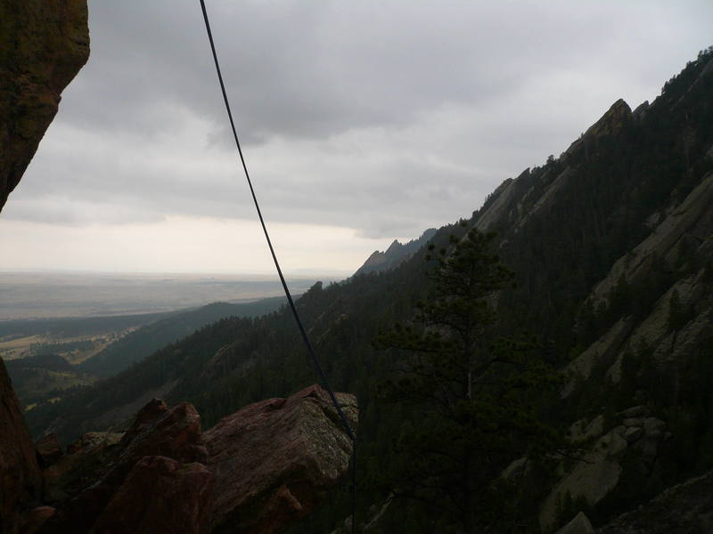 A shot of the back side of the Third Flatiron.  This is where the rappel is.
