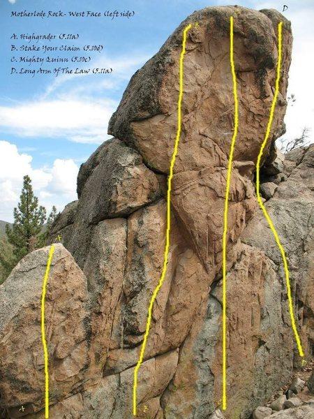 Motherlode Rock - West Face (left side)