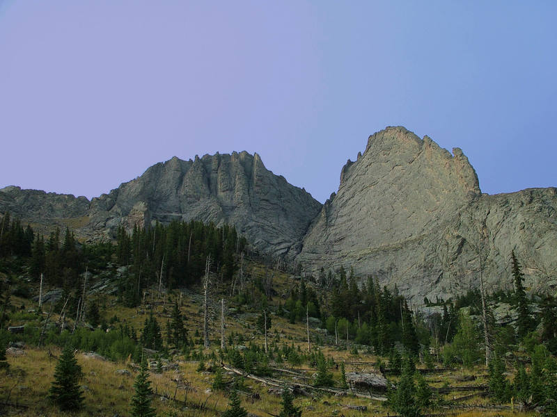 The Prow's west face as seen from the Spanish Creek approach.