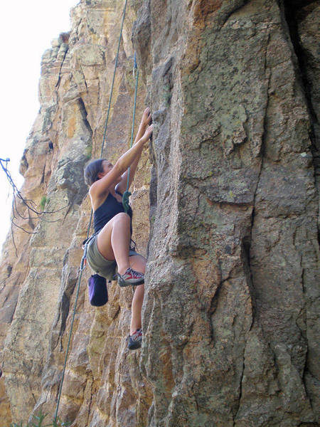 Chelsea Cook cranking on the crimps