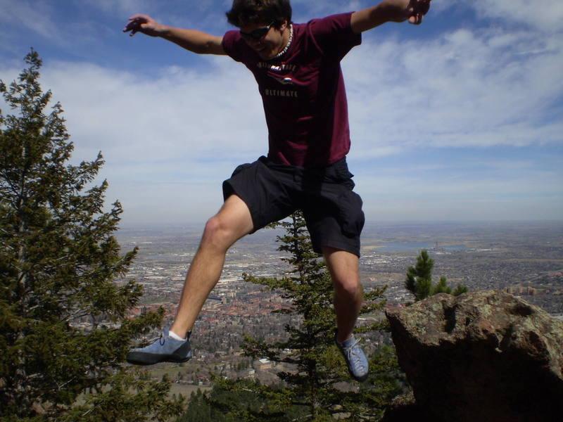 Taking a leap over Boulder.