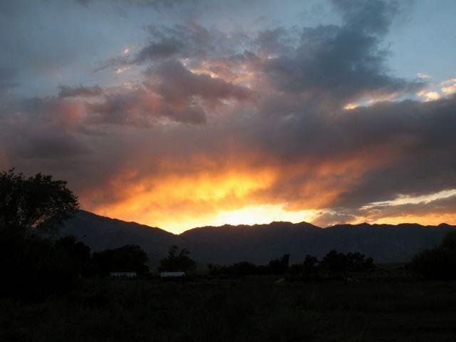 Sunset over Bishop, Sierra Eastside