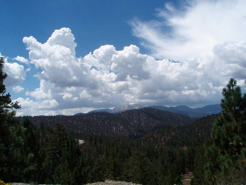 View from just before the summit heading towards Big Bear.