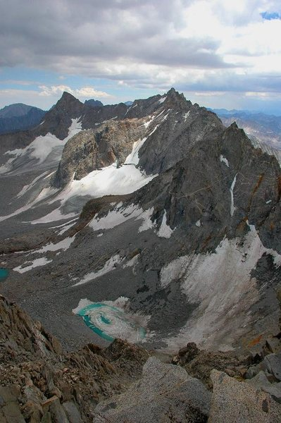 The Palisades, from the summit of Mt. Agassiz, 13,893 ft