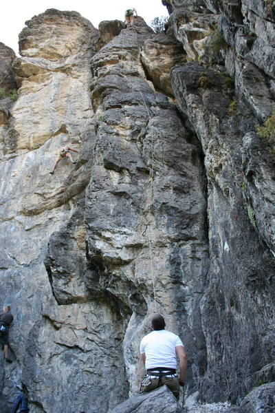 Climbing with the USU class on Community Effort.