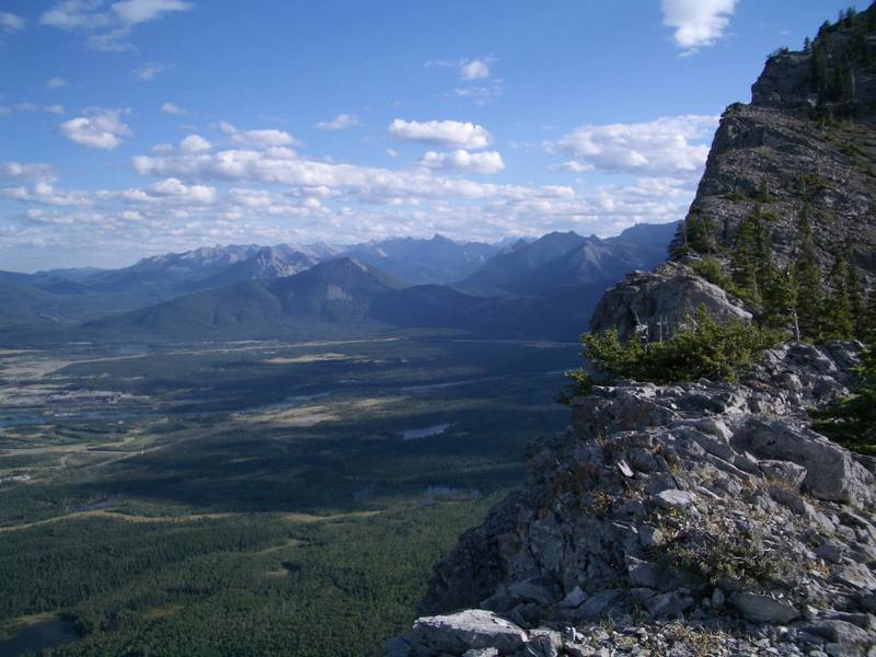 View of Bow Valley from top of East End of Yam