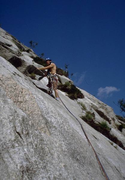 The 2nd pitch of Spartan Slab, 5.8 (VS 4c)