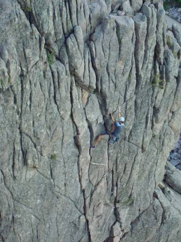 Climbing on the 4th Elephant Buttress