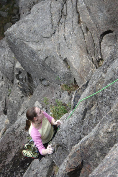 my wife nicole on standard routes second pitch...