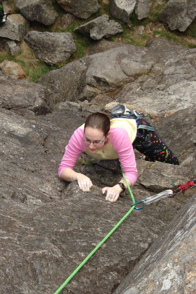 Pitch 1 of standard route...