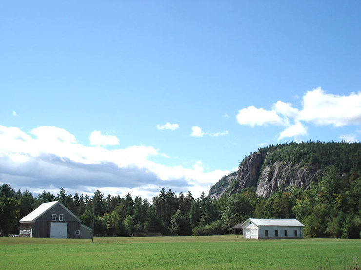 a great view of cathedral's right side and a little bit of whitehorse in the background...
