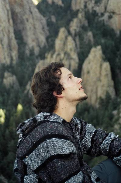 Matt, contemplating the west face of Hail Peak.