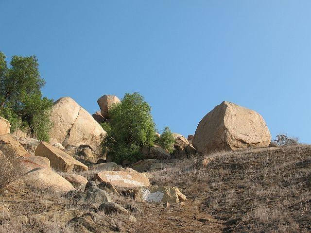 Hardy Boy Boulder (l) and John Long Boulder (r), Mt. Rubidoux