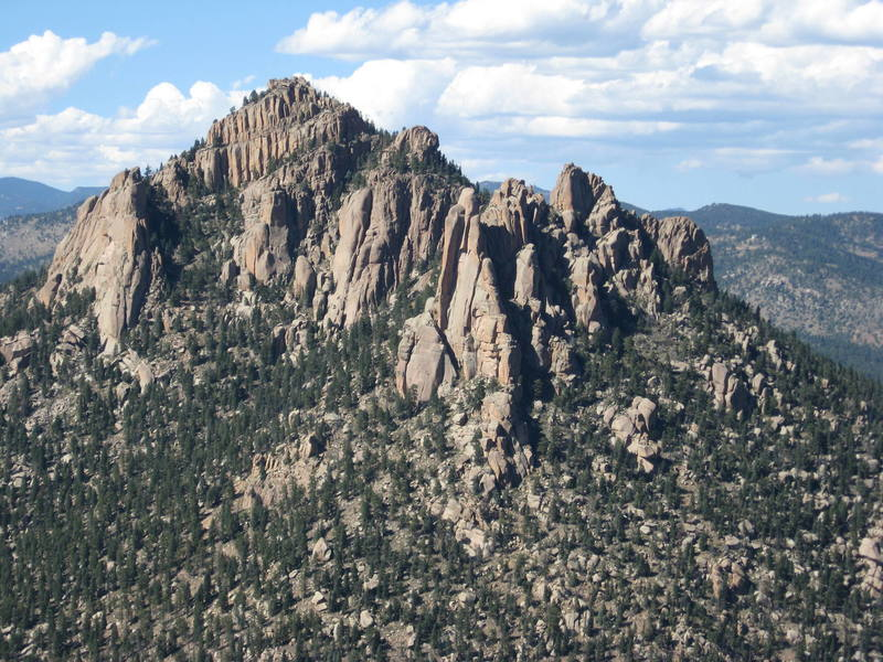 Cathedral Spires from the summit of Chair Rock.