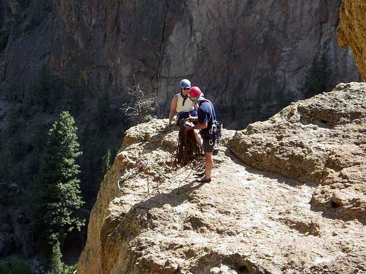 Sue getting ready to rap off above Ginger Snap.