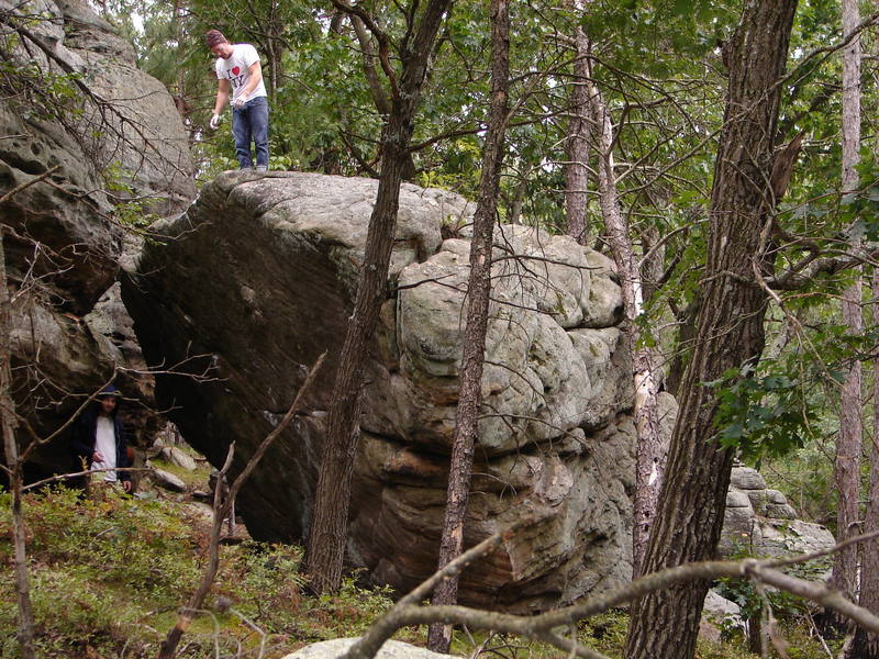 A Central Wisconsin Gem.  This boulder alone holds many amazing problems.
