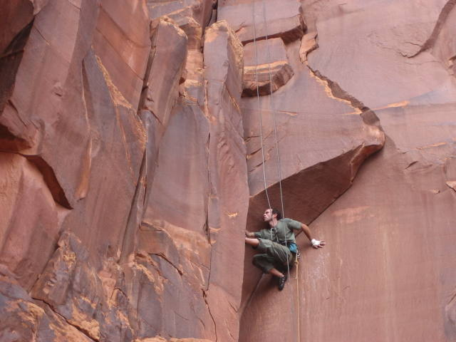 Comfortably delineating the crux.