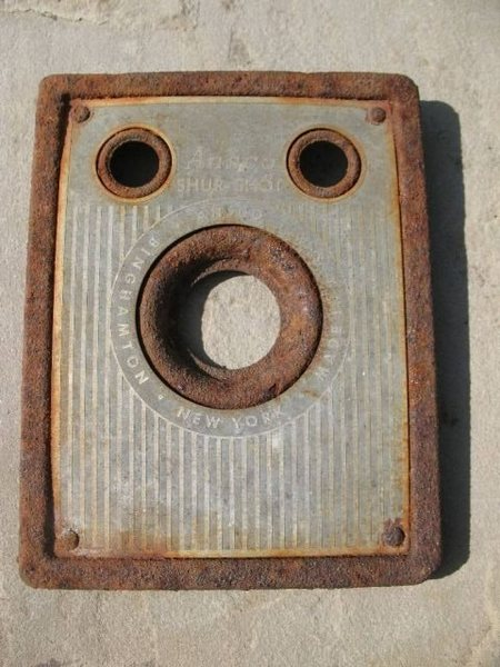 Faceplate of an Ansco Shur-Shot camera (circa 1930's) found at the base of Crystal Crag above Mammoth Lakes, CA