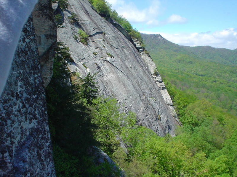 part of The Main Wall from the Cougar Crag.  Eagle Rock is in the background.  There are six more areas between the two cliffs.