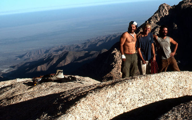 The Madman, The Wall Crawler and Scotty. Early Red Rocks adventurers. Photo courtesy of the Jim Newberry collection.