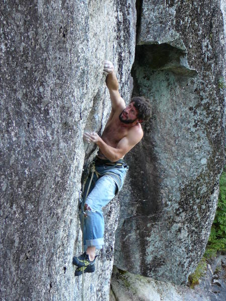 me midway through the upper crux
