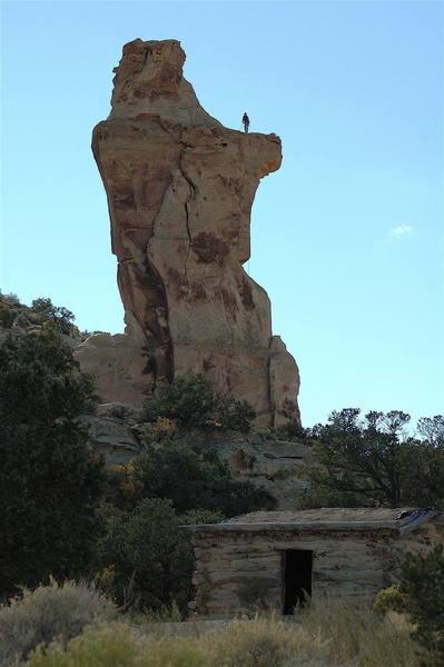 Ben climbing above history...