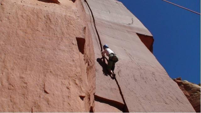 Marlene climbing