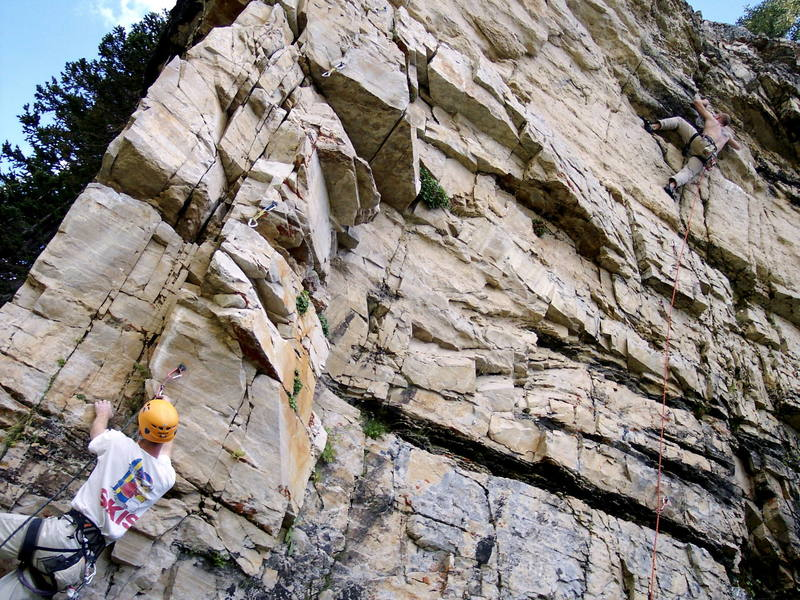 A busy day at Whipper wall
