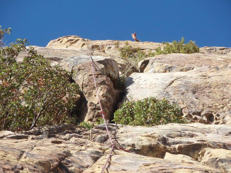 Happy Feet.<br> Top of Climb.