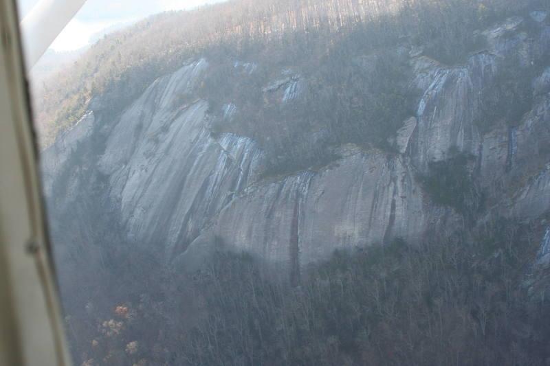 Cougar Crag (far left) Main Wall (left)<br> Desperado Wall (center)