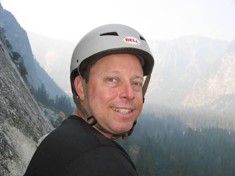 Cameron in Yosemite, Monday Morning Slab 5.4