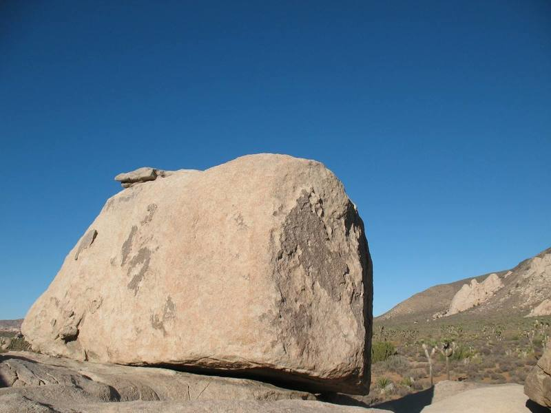 The Maverick Boulder with Saddle Rocks in the distance.