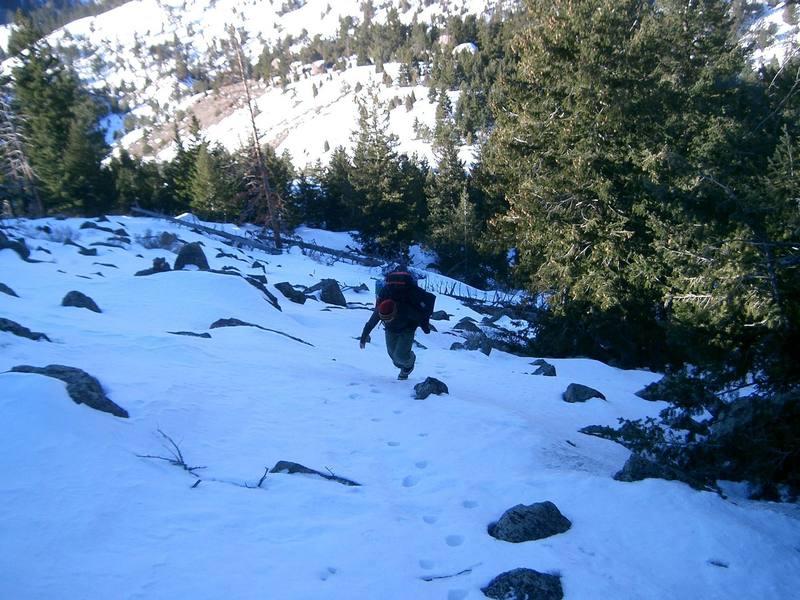 hiking up to Split Block