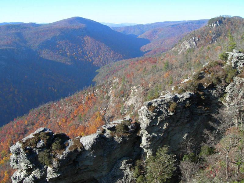 Autumn at Linville Gorge, North Carolina.
