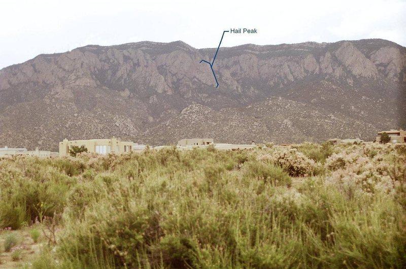 Hail Peak location.