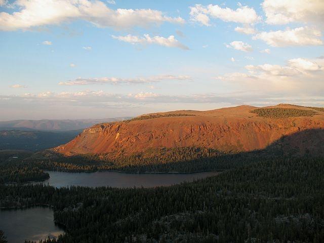 Lake Mary from Crystal Crag, Mammoth Lakes.