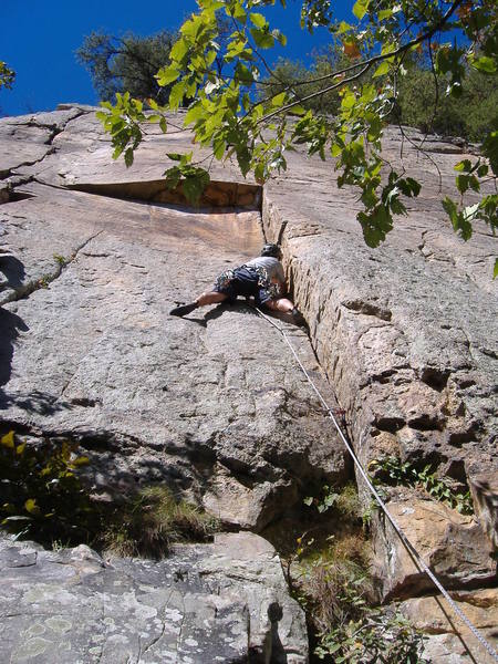 Leading up to the crux