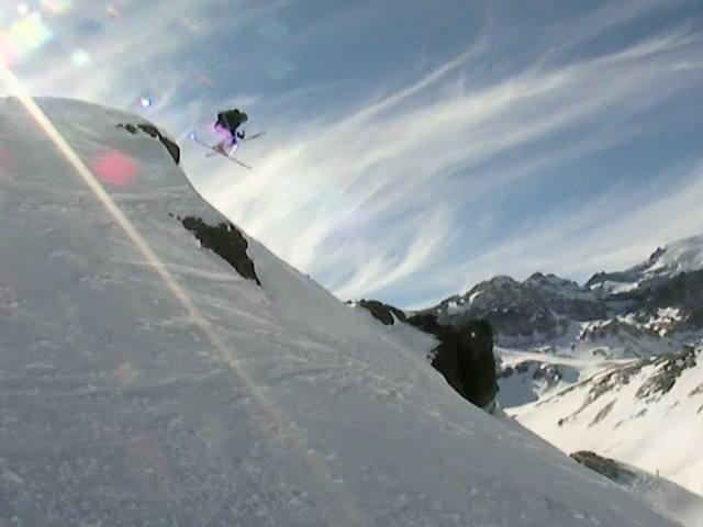 Skier: Austin Porzak  Location: Valle Nevado Chile South America  Photo taken by David Dean