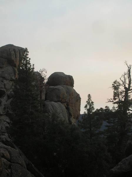 Early evening climb.