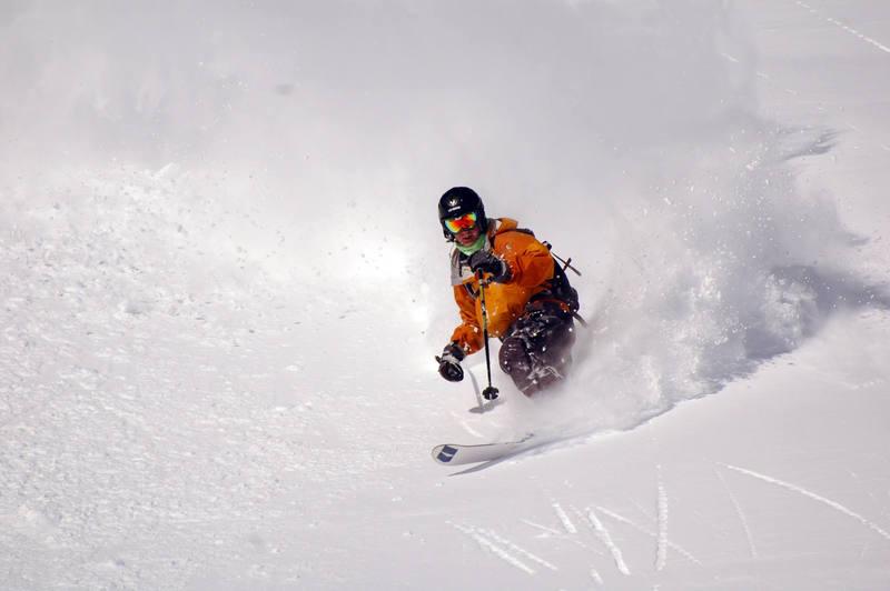 Silverton Ski Area. Rider Jesse Amory. <br> <br> Photo by Andy.