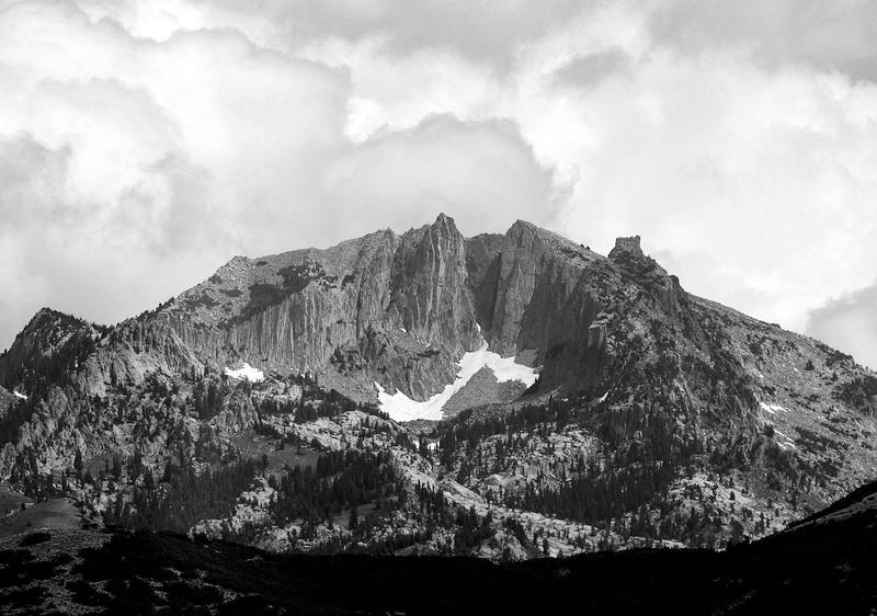 The Lone Peak Cirque from across the Valley.