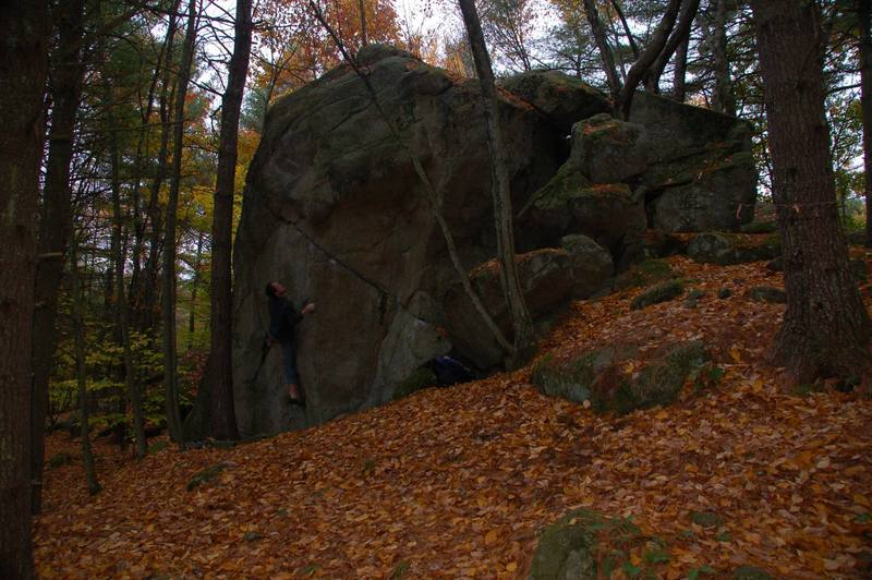 Ladd on the Welcome Boulder