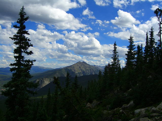 Colorado: Peak One from Buffalo Mountain aug 2007