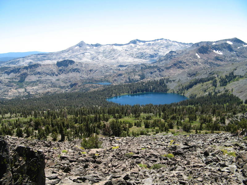 The Desolation wilderness from Mt. Tallac
