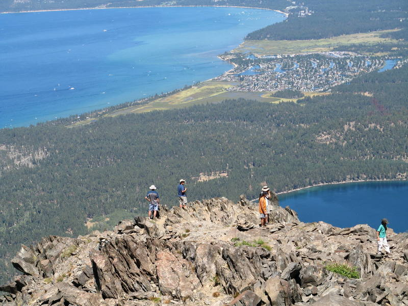 Busy day on the summit of Mt. Tallac
