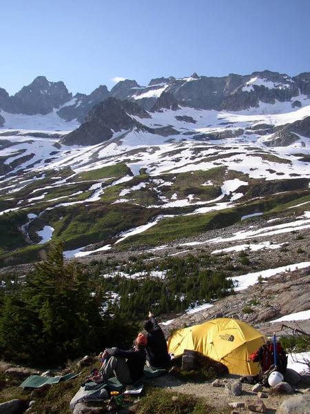 Boston Basin in mid summer. Torment Peak on the left.