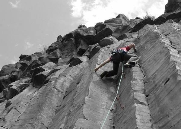 Climbing the lower section of Circumciser