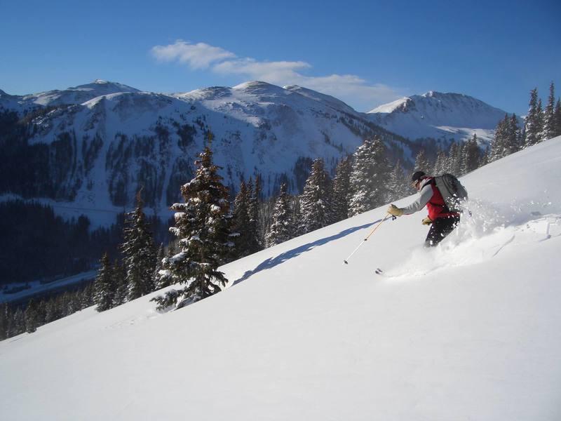 skiing one